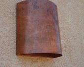 Copper Half Round Light Sconce
