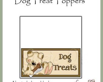Dog Treat Topper - Includes Bonus Christmas Topper - Digital Printable - Immediate Download