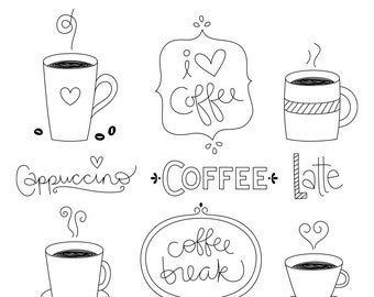 Coffee Heart Clipart
