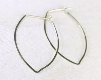 Ophelia handmade earrings - sterling silver flower petals