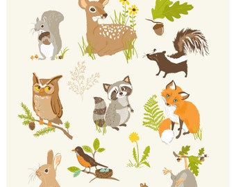 POSTER - Animals of North America - Charity Wildlife In Crisis