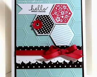 Stampin' Up Hello, Friend Card