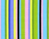 SALE Free Spirit Jane Sassaman Prarie G JS17 Midnight - Stripe 1 Yard Cut