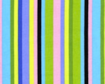 SALE Free Spirit Jane Sassaman Prarie G JS17 Midnight - Stripe 1 Yard Cut