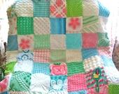 "CUSTOM QUILT SAMPLE - ""The Tropics"" Vintage Chenille Handmade Quilt"