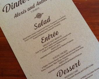 These premium menus with a glitter backing are sure to catch the eye of your guests!  ♥ WHAT'S INCLUDED? ♥ -ONE menu
