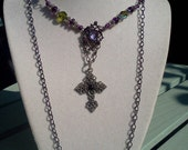 Goth Aubergine necklace