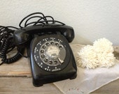 Vintage Telephone - Dial Telephone - Black Telephone - Free Shipping in USA