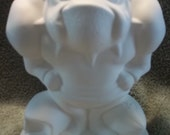 English Bulldog Football Player  in Ceramic Bisque - Ready to Paint Bull Dog Bulldogs