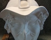 Witch Face Wall Plaque  in Ceramic Bisque  Paint Witches Ready to be Painted