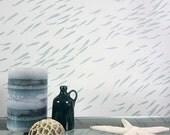 Fish School Allover Stencil Pattern - reusable stencil patterns for walls just like wallpaper - DIY decor