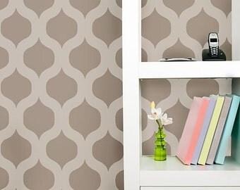 Cascade Allover Stencil Pattern - Small Scale - reusable stencil patterns for walls just like wallpaper - DIY decor