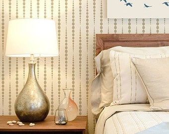 Beads Allover Stencil - Reusable Modern Wall Stencils for DIY Wall Decor - Better than Wallpaper or Decals!