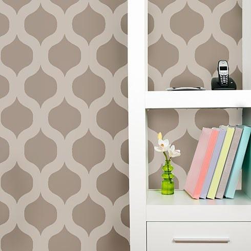 Cascade allover stencil pattern small scale reusable - Stencil patterns for walls ...
