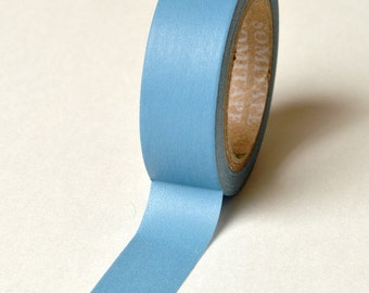 Washi Tape - 15mm - Steel Blue Solid Color - Deco Paper Tape No. 789