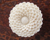 Flower Drawer knobs - Cabinet Knobs Mum in Tudor Cream LARGE, more COLORS (RFK12)