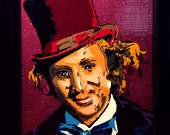 3D Willy Wonka Portrait with frame