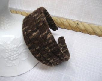 Brown Headband Hair Accessory Knitted Head Band Handmade