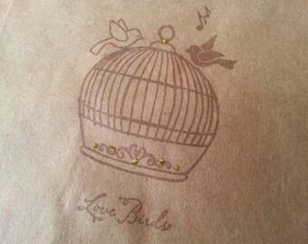 Birdcage Love Birds Wedding Anniversary Favor Bags Set of 8
