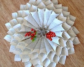 French Style Paper Wreath X-Large - Recycled Vintage Book Decorate for Christmas