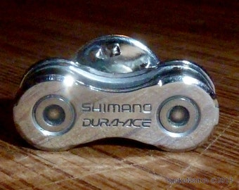 Shimano Dura Ace Bicycle Chain Lapel Pin Bike Jewlery Road Racer Mountain Biker Triathlete
