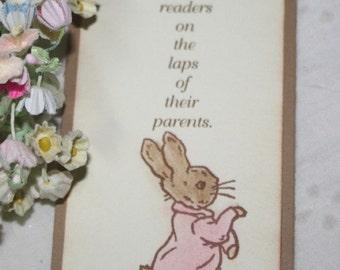Peter Rabbit Bookmark - Set of 10 - Baby Shower Favor - Birthday Favor - Girl - You Choose Ribbon