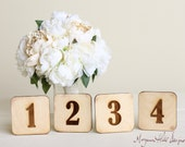 Wood Table Numbers Vintage Inspired Rustic Wedding  (Item Number 140304) NEW ITEM