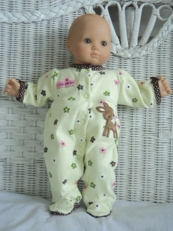 Bitty Baby Girl Cute Bambi Footed Pajamas Doll Clothes