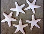 5 WHITE Sea Star Tile Set