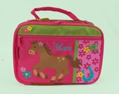 Personalized Stephen Joseph GIRL HORSE Lunchbox