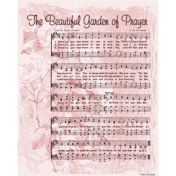 Items Similar To Beautiful Garden Of Prayer 8x10 Printable Instant Art Diy Jpg Digital