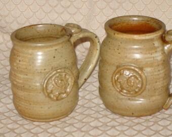Stoneware Seashell Mug