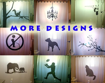 Custom Shower Curtain Tree Squirrel Chandelier Panda Funny No Pee Pitbull Dog Blue Bird Elephant Football