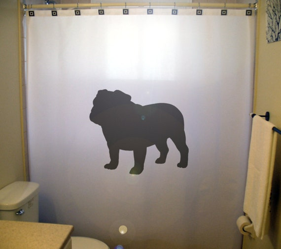 852 Bathtub Data Base Emails Contact Us Hk Mail: Bulldog Shower Curtain Dog Bathroom Decor Gift For Pet
