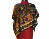 on sale Silk Women Majestic Blue Golden Cover Up - One Size Fits All