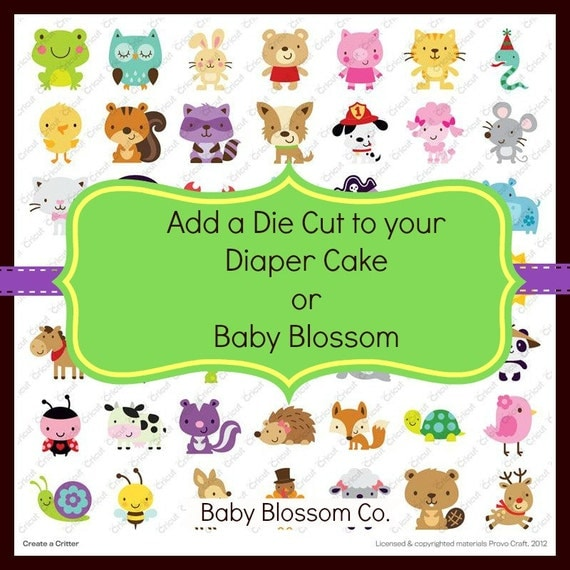 UPGRADE: Add a Die Cut to your Baby Bouquet or Diaper Cake Order by Baby Blossom Co.