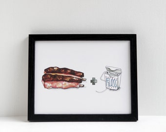 Ribs and Floss Print