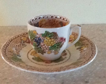 Woods Burslem 'HYDE' Honey Glazed Teacup and Saucer