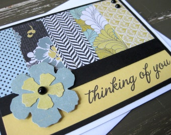 thinking of you - handmade greeting card