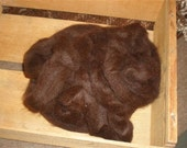 Dark Brown Alpaca Roving 6.3 oz.