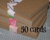 Medium Weight Chipboard Postcards (50) ... Blank Kraft Cards 4x6 Post Cards Rustic Invitations Recycled DIY Save the Date Craft Supplies