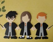 Harry Potter and Pals Handmade Wizarding World of Harry Potter Paper Doll Embellishments for Scrapbooking, Invitations or Party Decor