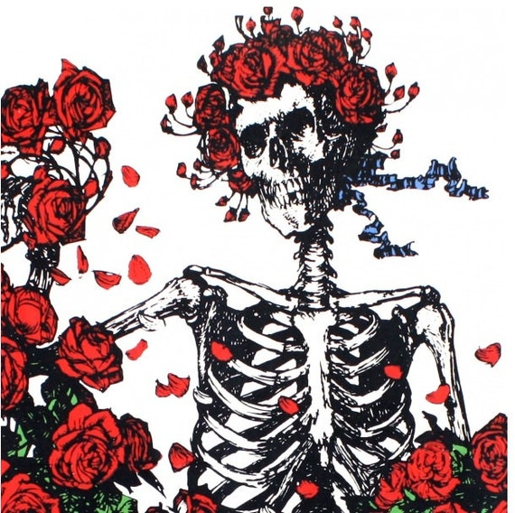 60x90 Grateful Dead Skeleton 3D Tapestry Fabric