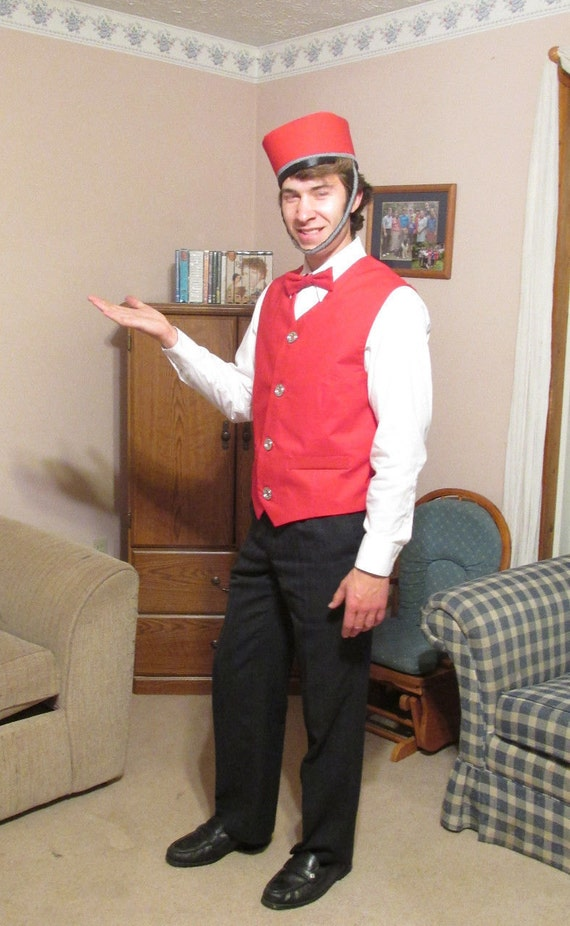 Barbershop Quartet Costume : Items similar to Red Valet/Bell Hop/Usher /Barbershop Quartet Costume ...