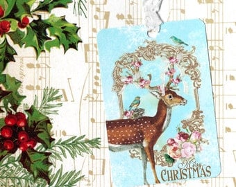 Christmas Gift Tags, Reindeer & Friends