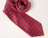 Vintage JoS. A. Bank Clothiers Red Necktie
