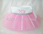 Monogrammed Easter Basket Tutu Bag- Personalized Easter Basket Tutu Tote - Flower Girl Tutu Basket Bag