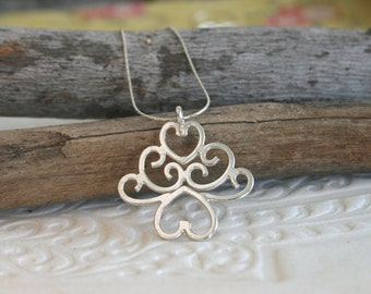 Silver Pendant Necklace - Sterling Silver Necklace - Handmade Ethnic Necklace | Handcrafted Jewelry