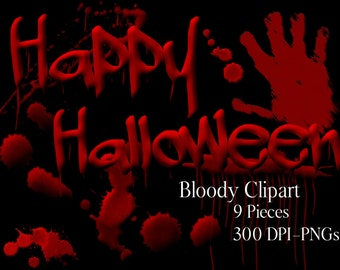 Halloween Clipart, Blood Clipart, Scary Clipart