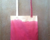 handmade dip dyed ombré dipped tote bag
